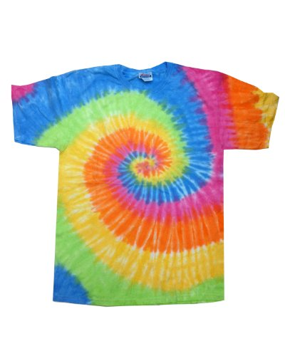 Colortone Multi Color Tie Dye Adult Tee (Eternity) (M) (Tie Dyed)