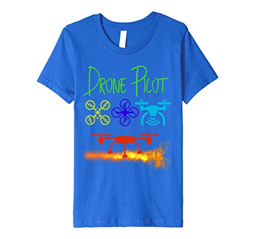 Price comparison product image Kids Drone Tee Shirt 6 Royal Blue