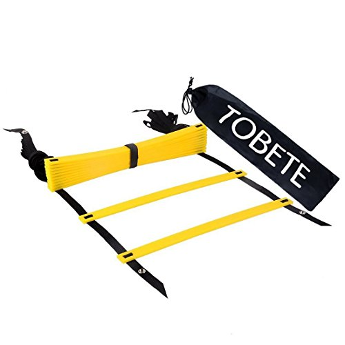 Tobete Agility Ladder Durable Agility Ladder BONUS Black Carry Case Sport Tool