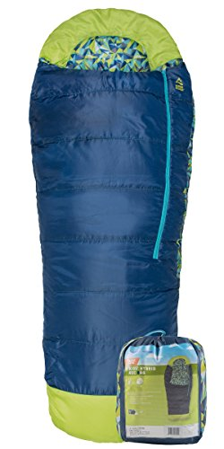 Red Cloud Kids Sleeping Bag; Great for Camping, Hiking, and Backpacking; Hooded Sleeping Bag; Kids Mummy Sleeping Bag; Blue; Stuff Sack Included; Company Based in the United States
