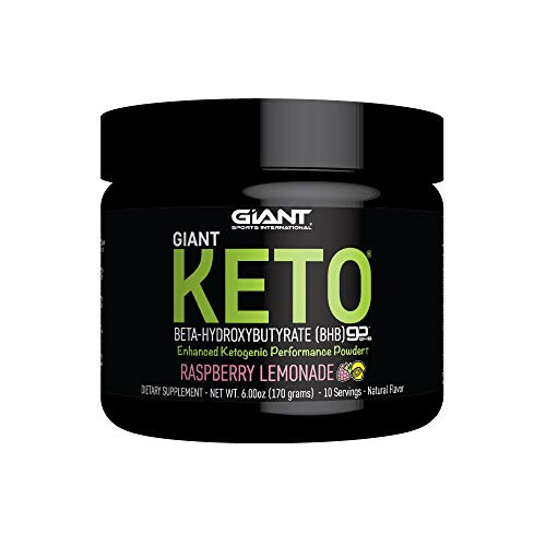Giant Keto - Exogenous Ketone Supplement - Beta-Hydroxybutyrate Keto Powder Designed to Support Your Ketogenic Diet, Raspberry Lemonade - 10 Servings
