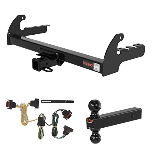CURT Trailer Hitch, Wiring & Multi-Ball Ball Mount for 2004 Dodge Dakota