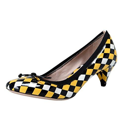 Miu Miu Patent Leather - Miu Miu Women's Patent Leather Kitten Heels Pumps Shoes US 6 IT 36;
