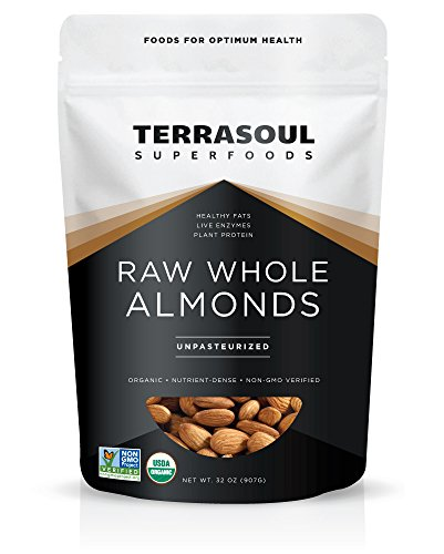 Terrasoul Superfoods Raw Unpasteurized Organic Almonds (Sproutable),