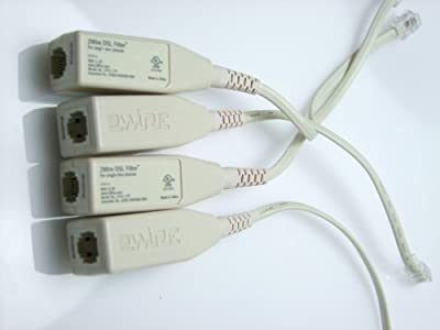 2WIRE DSL FILTER for TELEPHONE ,FAX & ANALOG MODEMS-A packet of 4