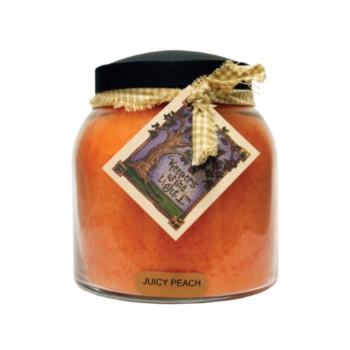 A Cheerful Giver Juicy Peach Papa Jar Candle, 34-Ounce