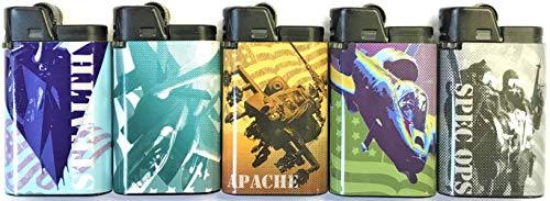 DJEEP 15ct War Games Djeep Lighters, Flint Lighter, Cigar Cigarette Lighters