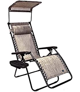 Bliss Hammocks Gravity Free Lounger With Canopy, Pillow, Deluxe Armrest U0026  Side Tray,