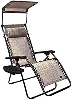 bliss hammocks gravity free lounger with canopy pillow deluxe armrest  u0026 side tray amazon     bliss hammocks gfc 437d gravity free recliner with      rh   amazon