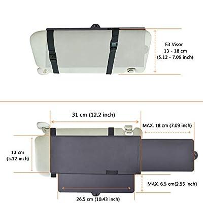 Car Visor Extender, FULLONG Car Visor Sun Shade Extender, Windshield Shade and Side Window Shade - Black: Baby
