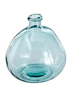 "Mud Pie 4735006L Nest Large Recycled Spanish Glass Bubble Shape Vase 9"""