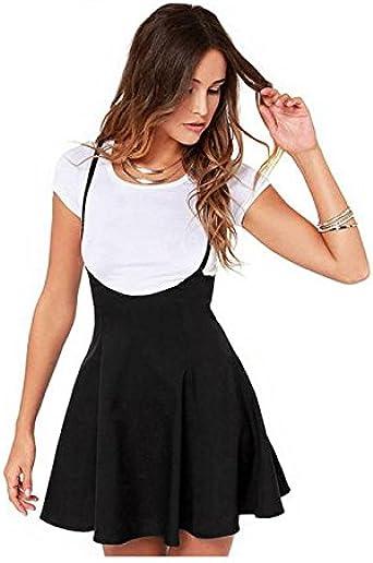 Falda Negra para Mujer De Sonnena - Correas De Hombros ...