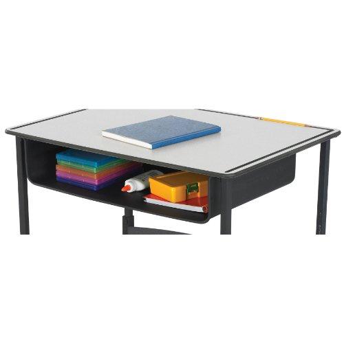 (Safco Products 1212BL Book Box for AlphaBetter Desk, Black)