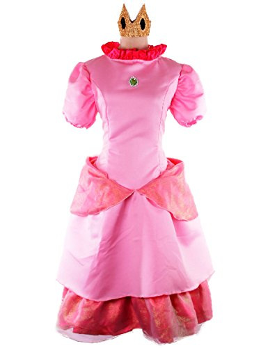 [Wraith of East Deluxe Princess Peach Costume Women Super Mario Cosplay Dress L Pink] (Princess Peach Costumes Women)