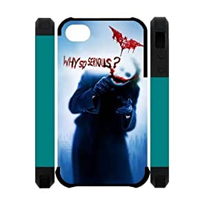Excited Joker Batman Apple Iphone 4S/4 Case Cover Dual Protective Polymer Cases Why So Serious by ruishername