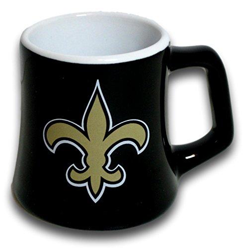 Boelter New Orleans Saints 2 Ounce Sculpted Ceramic Mini Shot Glass Mug - Series 2