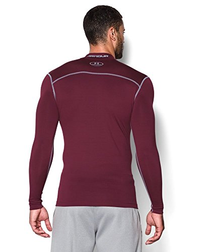 Under Armour Men's ColdGear Armour Compression Mock Long Sleeve Shirt, Maroon /Steel, XXX-Large by Under Armour (Image #1)
