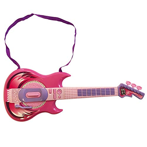 LilPals' Karaoke Microphone Guitar Musical Prodigy Set - Featuring an Amazing Guitar and Stage Microphone Set with 2 Play Modes. Your Future Rock Star Will be Thrilled to Show Off Their Talent (Pink) -