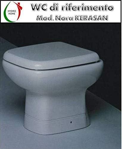 Copriwater Nora Kerasan legno rivestito in resina poliestere bianco