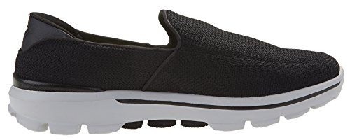 Skechers Performance Slip Grey On Black Walking Shoe 3 Go Mens Walk rqrAdwXH