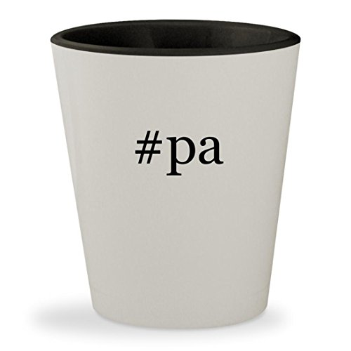 #pa - Hashtag White Outer & Black Inner Ceramic 1.5oz Shot - Newtown Glasses