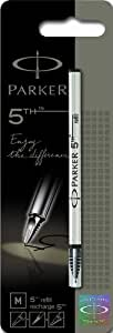 Parker 5th refill for Parker 5th Technology Ink Pens, Medium point, Black ink, 1 unit per pack (S0958940)