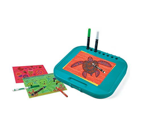 Crayola Create 'n Carry 75 Piece Art Kit Art Gift for Kids 5 & Up, 2-in-1 Portable Lap Desk & Carry-Case For Child Artists On-the-Go, Includes Markers, Crayons, Colored Pencils & Paper
