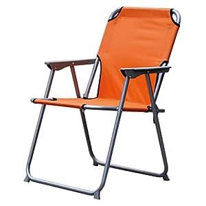 Sillón camping, 75x 57x 54cm Oxford Silla plegable Varios. Colores silla de camping silla, naranja