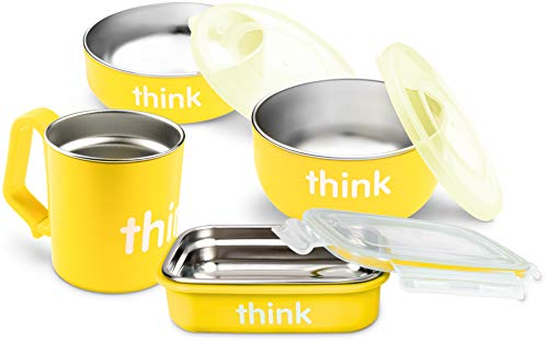 ThinkBaby Complete BPA Free Feeding Set (Yellow)