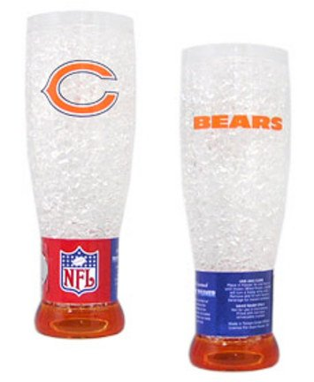 Chicago Bears Plastic Crystal Pilsners - Set of - Plastic Crystal Pilsners