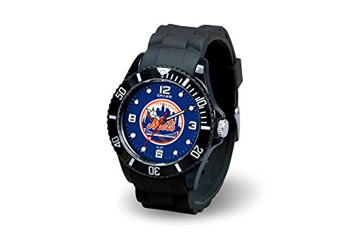 New York Mets Watch - Rico Industries MLB New York Mets Spirit Watch, Black