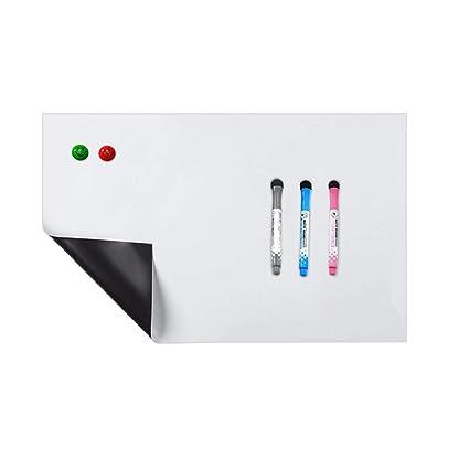 Pizarra blanca magnética YIY, tamaño A3, para nevera, para niños ...