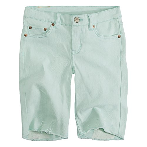 Levi's Big Girls' Denim Bermuda Shorts, Fair Aqua, ()