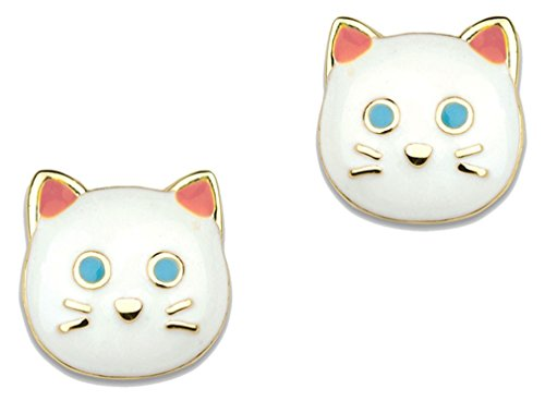 Wedding Moments Precious Favors (Girl Nation Little Treasures Collection Enamel Pretty Kitty Post Earrings)