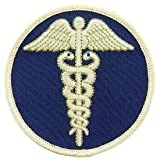 EagleEmblems PM3956 Patch-Medic,Caduceus (Blu/Wht) (3'')