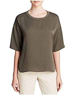 Theory Women's Beymia Modern GGT Blouse Top