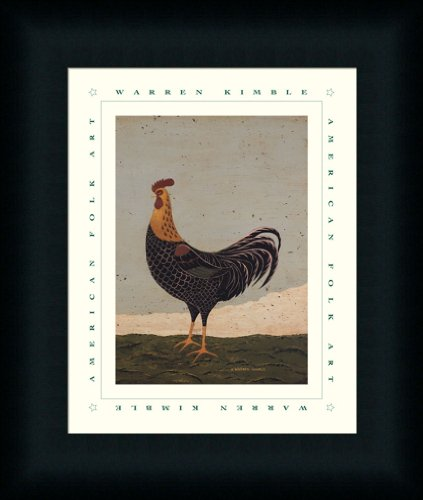 Rooster Facing West by Warren Kimble Country Americana Wall Art Print Framed Décor
