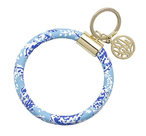Lilly Pulitzer Bracelet Key Ring Chain, Turtley Awesome
