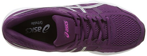 Prune Running Competition Purple Black Contend Shoes Gel 4 Women's Silver Asics TSxFn