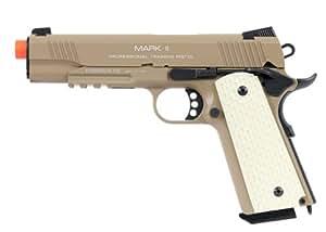 kwa 1911 mkii ptp full metal gas blowback airsoft pistol - dark earth(Airsoft Gun)