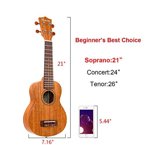 Ukulele Soprano Mahogany 21 Inch Ukelele Uke With Beginner Kit ( Gig Bag Tuner Strap String Instruction Booklet ) - Image 8