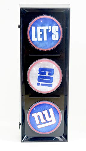 - New York Giants, Flashing Let's go Light sequential Flashing Electric Light, Free Stand or Wall mountable, Size 5.88