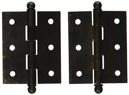 Deltana CH2520U10B Solid Brass 2-1 2-Inch x 2-Inch Cabinet Hinge with Ball Tips by Deltana