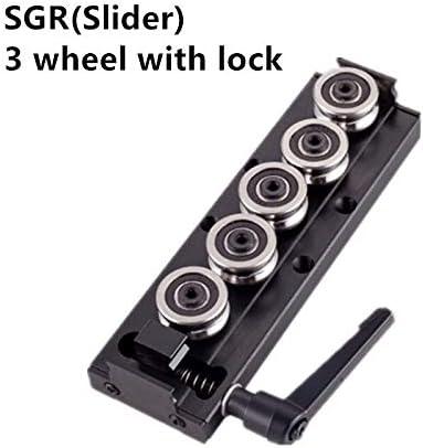 WITHOUT BRAND 1set SGR15 SGR20 SGR25 SGR30 3/4/5 Rad mit Verschluss Gleitblock 500mm 1000mm Anpassbare Führungsschiene Slider Linear Actuator-Platz (Farbe : SG15, Größe : SGB 5Wheel Lock)