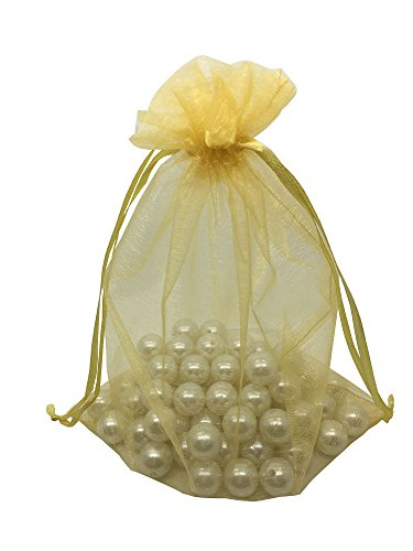 MELUOGE 100pcs 6X9 Inches Organza Drawstring Jewelry Pouches Bags Party Wedding Favor Gift Bags Candy Bags - Favor Bags Silk