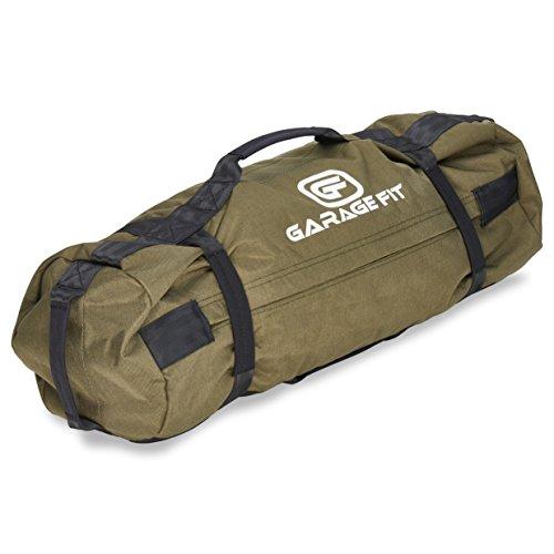 Garage Fit Heavy Duty Workout Sandbags For Fitness, Exercise Sandbags, Military Sandbags, Weighted Bags, Fitness Sandbags, Training Sandbags, Tactical Sandbags (Military Green 25-75 lbs)