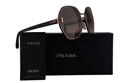 Prada PR53TS Sunglasses Havana Gold w/Brown Gradient 63mm Lens 2AU3D0 SPR53T PR 53TS SPR - Glasses Less Rim