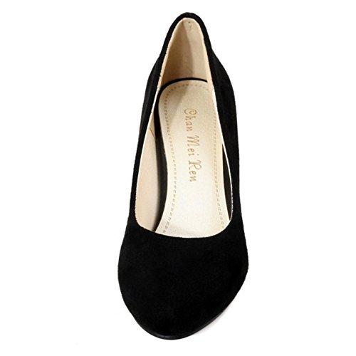 Coolcept Chaussures Escarpins Escarpin Mode A Soiree Bas Enfiler Femme Noir Talon 41xw4