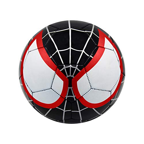 Athlecti Pre Liga Miles Morales Spider-Man Kids Soccer Ball with Dual Action Pump (Size 1)