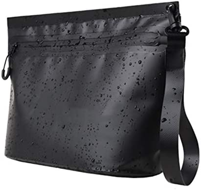 トイレタリーバッグ化粧品袋 スイミングバッグウォッシュバッグ水着収納袋スイミング機器アクセサリー防水バッグビーチバッグ大容量 シェービングキットオーガナイザーバッグ (色 : Black, Size : 20x11x31cm)